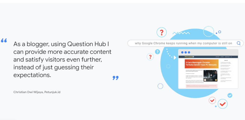 Christian Dwi Wijaya on Google Question Hub
