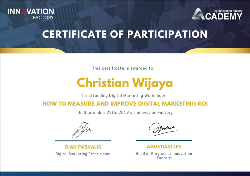 Christian Wijaya - Innovation Factory Academy